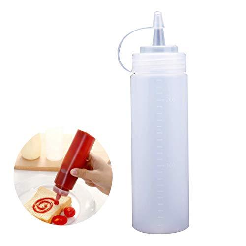 CANAVA Kunststoff Squeeze Bottle Bulk Klar Bpa Freie Würze Oberflaschen Bulk Klar Bpa Freie Würze Flasche Set Spritzen Gewürzflaschen -