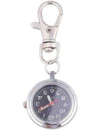 Hemobllo Reloj de Bolsillo de Cuarzo - Reloj de Bolsillo Redondo Retro Reloj de Cuarzo Digital Llavero Reloj de Bolsillo Reloj portátil al Aire Libre Unisex (07)