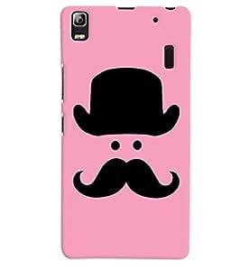 Citydreamz Hat\Moustache\Man Hard Polycarbonate Designer Back Case Cover For Lenovo A 7000/A7000/ K3 Note