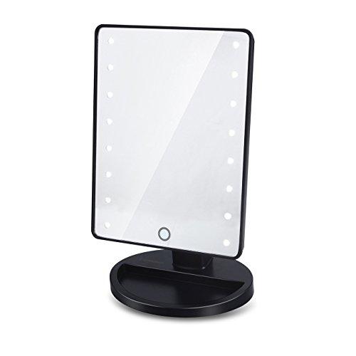 Expresstech @ Make-up-Spiegel mit led Beleuchtung,16 LEDs Touch-Schalter Kosmetikspiegel,batteriebetrieben ,Schminkspiegel,180 Grad freie Rotation für Make-up, Badezimmer, Ankleideraum, Facewashing