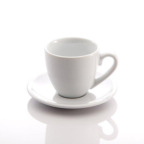 Preisvergleich Produktbild Home Chord Bar Espresso Cups And Saucers (Set of 4),  2 oz,  White by Home Chord