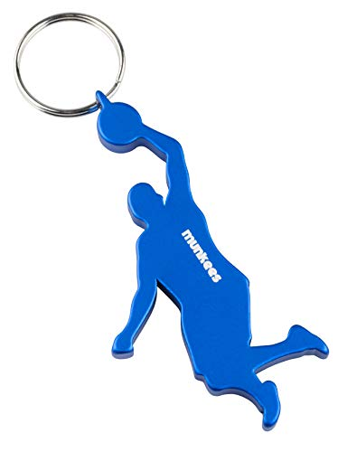 munkees Schlüsselanhänger Flaschenöffner I Basketball Fanartikel I Geschenk Artikel, Blau, 34916