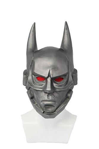 Evere Halloween Maske Cosplay Kostüm Latex Maske für Erwachsene Herren Halloween Verrücktes Kleid Kleidung Zubehör (Batman Kostüm Replik)