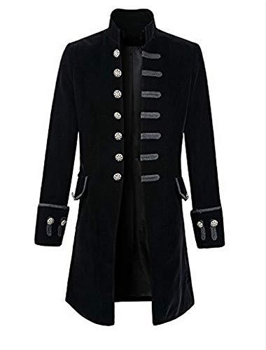 (Romancan Herren Punk Steampunk Gothic Langarm Jacke Retro Cosplay Uniform für Männer)