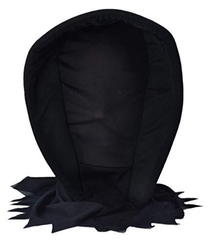 TDD Deluxe Dark Ghoul Hood Mask See Through Face Halloween Fancy Dress Scary Headwear