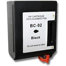 Cartucho de Recarga color negro compatible con modelos Canon BJ 200 EX, BJ 200, BJ 200 E. Para reemplazo de cartuchos originales Canon BC-02, BC-01.