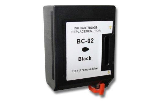 vhbw Druckerpatronen Tintenpatronen für Canon BJC20, BJC100, BJC150, BJC200, BJC210 J, BJC230, BJC240 wie Canon BC-01, BC-02, BX-02. - Bc-02 Patrone Schwarz