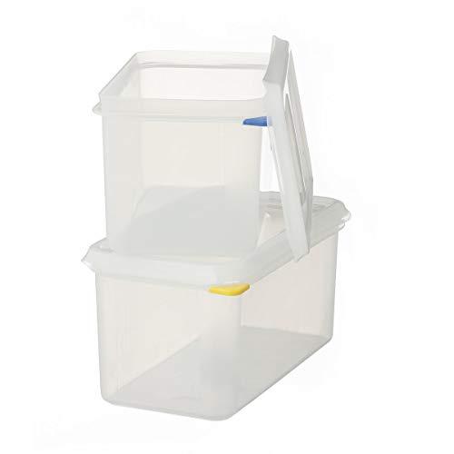 2 x METRO Professional GN 1/3 Behälter mit Deckel | Höhe 100 mm | Vorratsbehälter | Frischhalteboxen | HACCP | Polypropylen | Mikrowellengeeignet | Spülmaschinengeeignet |