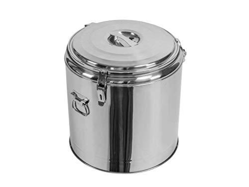 Profi Gastro Edelstahl Thermotransportbehälter mit Druckausgleichsventil von 10-50 Liter auswählbar (30x40 cm 13Liter)