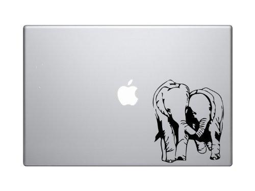 SUPERSTICKI Elephants in Love Safari MacBook Ipad Decal Skin Sticker Laptop, Decal Sticker Vinyl Car Home Truck Window Laptop ca. 20cm Aufkleber Autoaufkleber Wandtattoo