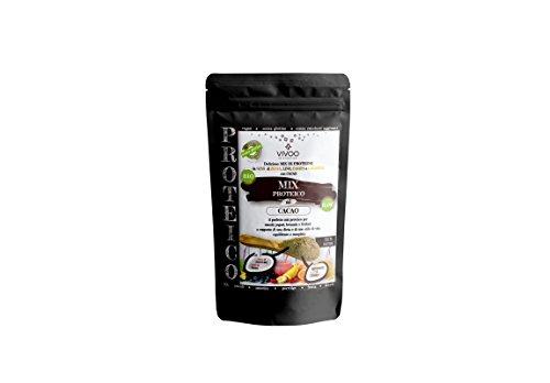 VIVOO RE-EVOLUTION | MIX/CONDIMENTO PROTEICO CACAO| Biologico, Raw | Senza Zuccheri aggiunti | No: glutine, Latticini, Soia, OGM | Vegano, Kosher | Ricco di Nutrienti | Confezione 150 g cad.