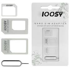 3in1 Noosy Nano Mikro Standard SIM Karten Adapter Für Iphone 4 4S 5 Samsung Galaxy - Sim-karten-slot Iphone Mit 4s