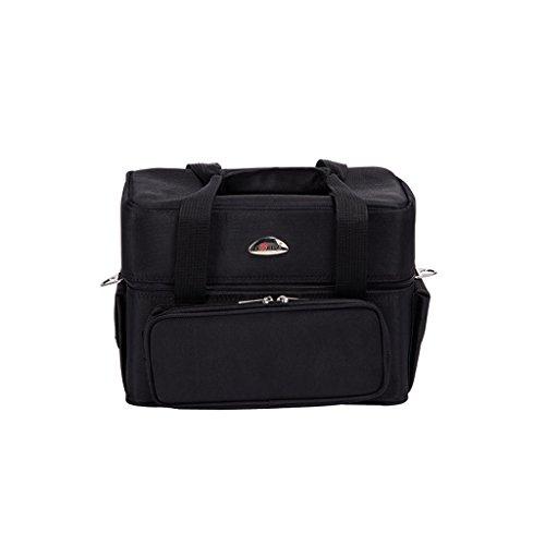 TaoMi Homw- Portable Mini Cosmétique Case Nail Beauté Cosmétique Kit Professionnel Grande Capacité Avec Le Maquillage Box-noir