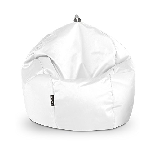 HAPPERS Puff Pelota Naylim Impermeable Blanco