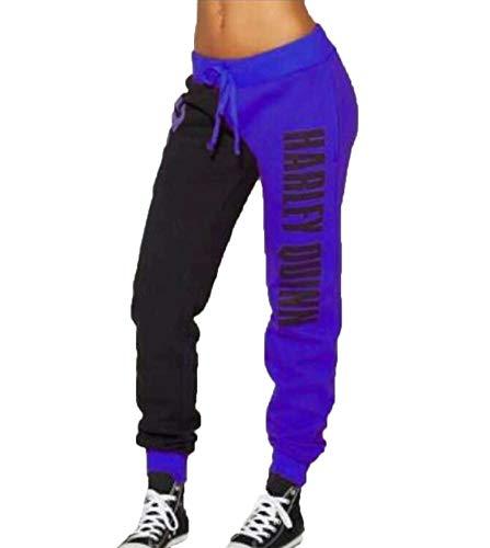 a74e63a2867be Femmes Baggy Pantalons de Sport Fashion Imprimée Patchwork Longue Pants  Sweatpants de Fitness Jogging Workout,