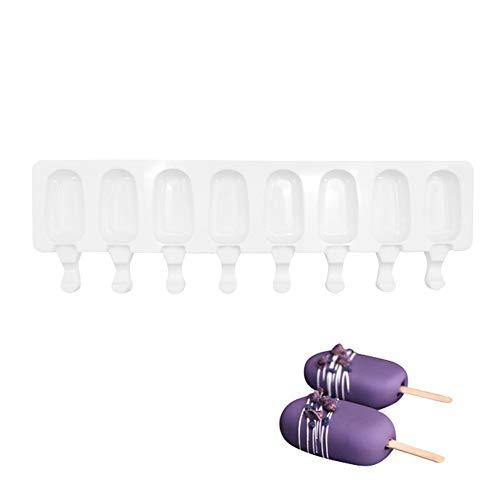 JINRU Popsicle Mold - Muffinform Mit 8 Kavitäten, Dickes Material, Silikonform