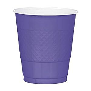 Amscan International Amscan 552287-105 - Vaso de plástico (355 ml, 10 unidades), color azul