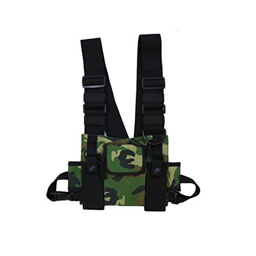 Scdincier Universal Hands Free Radio Vest Brusttasche, Funkgerät -