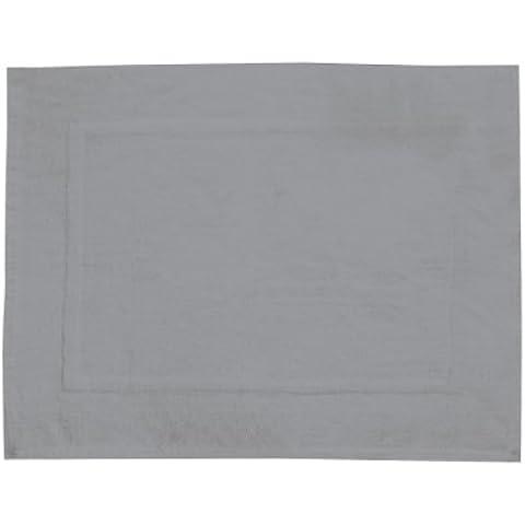 WENKO 20828100 Esterilla para bañera de terry Paradise gris - alfombra de baño, Algodón, Gris