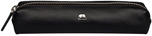 Preisvergleich Produktbild Brown Bear Schreibgeräteetui Leder schwarz Reißverschluss slim 1403
