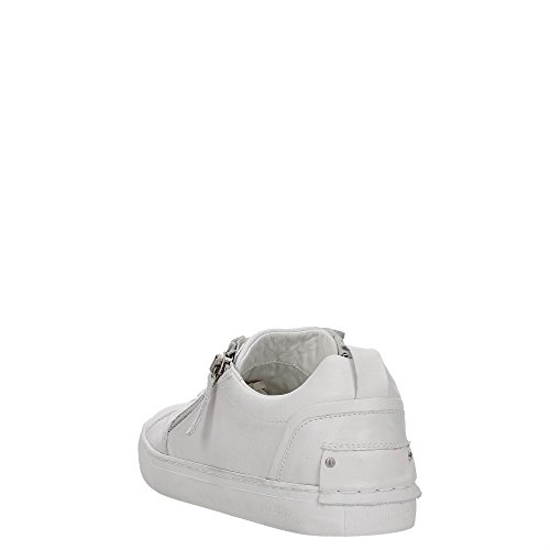 Crime London Sneaker Uomo Underground Pelle 2 Zip White White