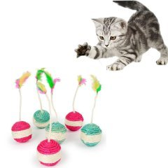 Katzenspielzeug, rollender Sisal-Kratzbaum, K