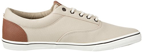 Jack & Jones Jfwvision Mixed Plaza Taupe, Sneakers Basses Homme Beige (Plaza Taupe)