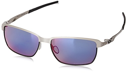 Oakley Herren Tinfoil Rechteckig Sonnenbrille, Grau (Light/Red Iridium Polarized (S3))