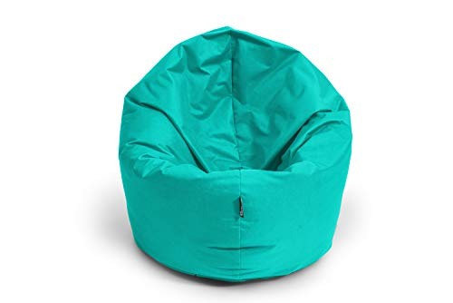 BuBiBag Sitzsack 2 in 1 Funktion Sitzkissen mit EPS Styroporfüllung 32 Farben Bodenkissen Kissen Sessel Sofa (100cm, Türkis)