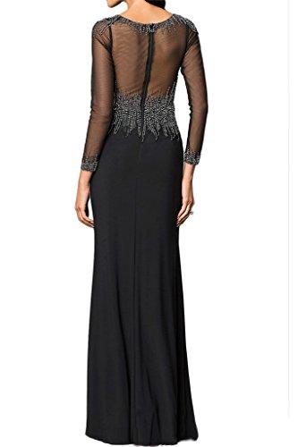 """Prodotto di alta qualità""""sassi Ivydressing Donna Manica lunga punta, & tulle dell'abito Bete vestito da sera festa Nero"""