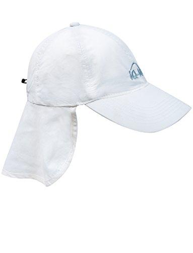 iQ-UV 200 Sonnenschutz Cap mit Nackenschutz Kappe, White, 55-61 cm -