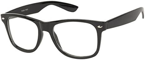 VESPL Unisex UV Protected Full Rim Wayfarer Spectacle Frame, Medium(Black, 55, V-2707)