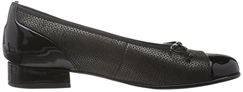 Gabor Shoes Comfort Basic, Ballerine Donna Multicolore (anthrazit/schwarz 37)