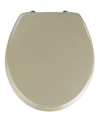 WENKO 20113100 Seduta WC Prima beige sabbia satinato - per WC con cassetta a zaino, MDF (Pannello fibra di legno pressato), 38 x 41.5 cm, Beige