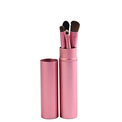 Vi.yo 5 Pcs Professionnel Teint Eyebrow Shadow Makeup Blush Kit Pinceau Ensemble brosse à maquillage Brosse à maquillage Maquillage Outils(Rose)