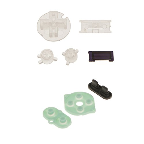 MagiDeal Clear Dustproof Buttons+Rubber Conductive Button Pad Kit For Nintendo GBC