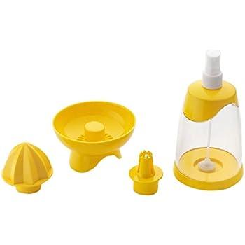 Amiraj Triple Action Plastic Juicer, Transparent/Yellow