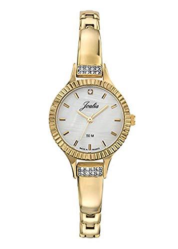 Joalia H630M582 - Orologio da donna con cinturino dorato, quadrante bianco e strass