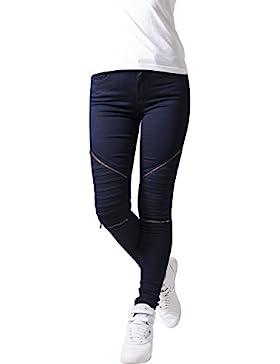 Urban Classics Ladies Stretch Biker Pants, Pantalones para Mujer