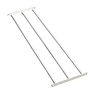 Dekorativer Zaun Panel Triple (Uni), metall, weiß, Plain