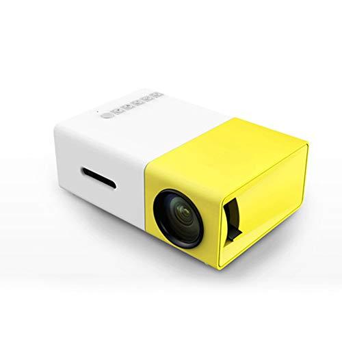 DJG Proyector LED 600 Lumen 3.5Mm Audio 320X240 Píxeles Home Media Player Compatible con TV Stick, PS4, HDMI, VGA, TF, AV y USB