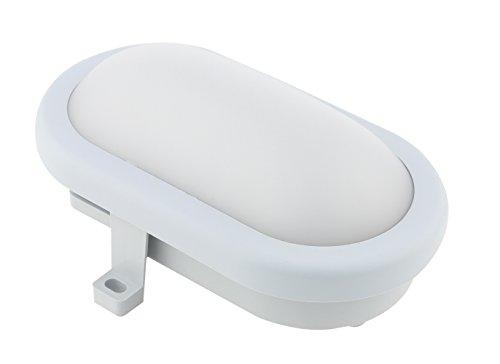 Proventa | LED | Wandlampe | Deckenleuchte | Rundleuchte | Ovalleuchte | Innen oder Außen, Farbe:grau, Form:oval