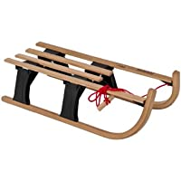 Hamax Schlitten Lillehammer Rodel Mini, Wood/black/maple/beech, 540024