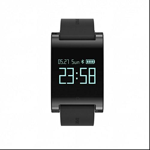 Bluetooth Smart uhr Smartphone sport watch Speicherplatz für Musik Pedometer Aktivitäts Tracker Herzfrequenz-Messgerät Fernkamera Intelligente uhr Leben wasserdicht für iOS und Android Smartphones