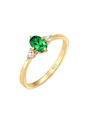 Elli Ring Bandring Verlobung Zirkonia Kristalle 925er Silber