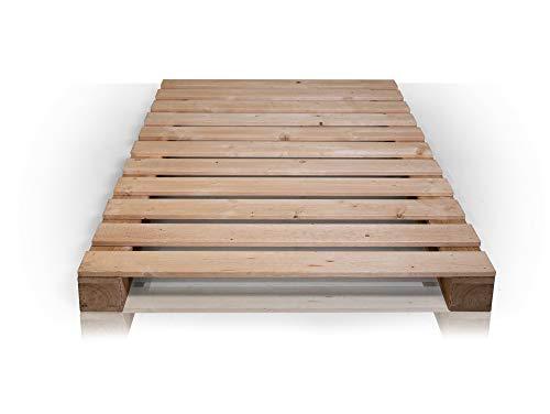 PALETTI Massivholzbett Holzbett Palettenbett Bett aus Paletten – Rustikal gebeizt - 4