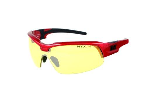 NYX Sport Vision Pro z-17Serie Sonnenbrille mit Z87.1Sicherheit Bewertung, rot-schwarz Rahmen/gelb Luminator Sicherheit Objektiv, Medium