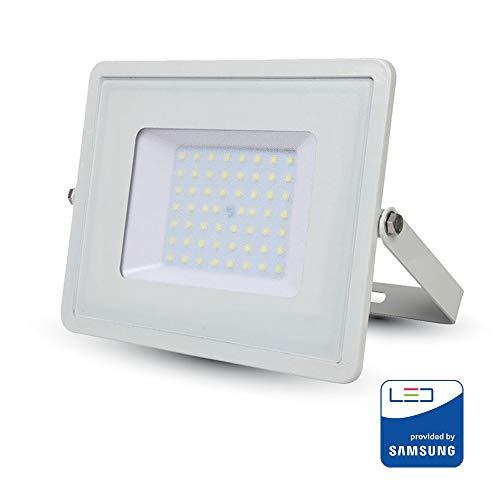 V-TAC SKU.410 Projecteur LED Pro Blanc 50 W Samsung Chip VT-50, Aluminium