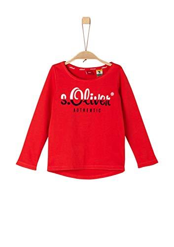 s.Oliver Mädchen 53.902.41.2561 Sweatshirt, per Pack Rot (red 3110), 104 (Herstellergröße: 104/110/REG)