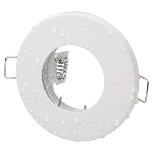 Bad Einbaustrahler Aqua Weiss Matt IP65 Strahlwassergeschützt GU10 230V Fassung Inklusive Ohne Leuchtmittel -